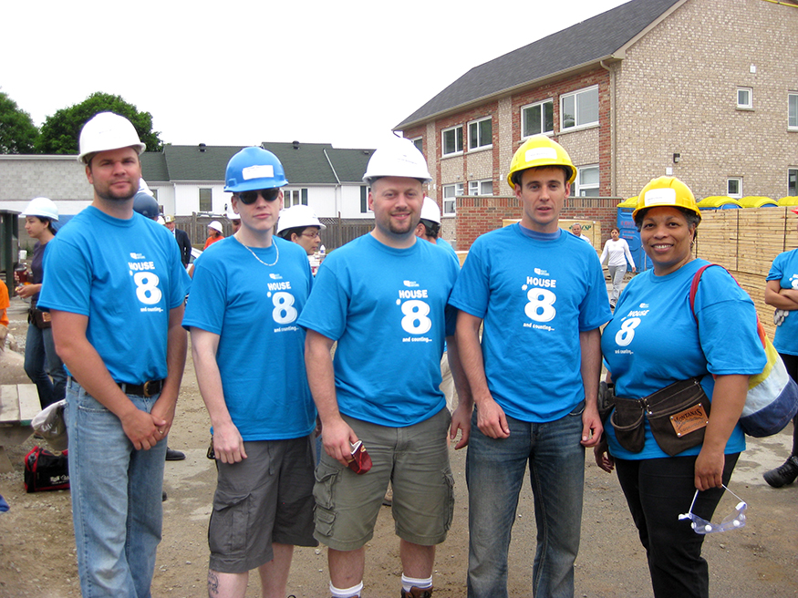 Angus Systems 2011 Habitat for Humanity Build Day Team