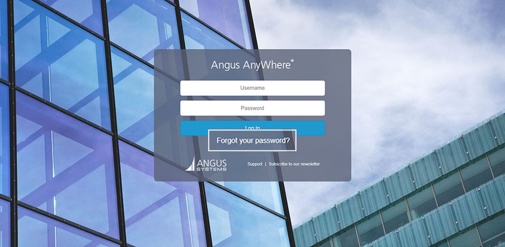 Angus AnyWhere Forgot Your Password